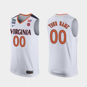 Mens 2019 Final-Four UVA Customized Jerseys #00 White