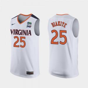 For Men Mamadi Diakite UVA Jersey 2019 Final-Four Replica #25 White