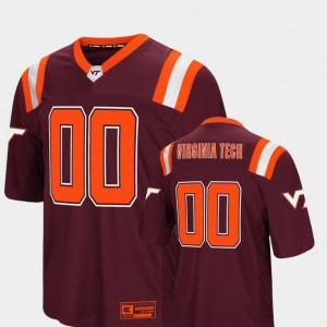#00 Colosseum Men's Foos-Ball Football Virginia Tech Jersey Maroon