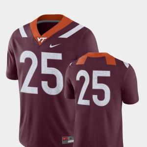 Men's College Football #25 Virginia Tech Jersey 2018 Game Maroon