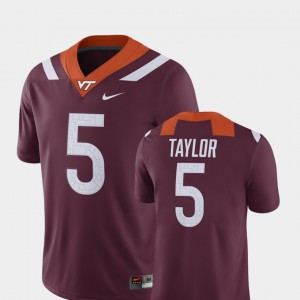 Mens Tyrod Taylor Virginia Tech Jersey Player Maroon #5 Alumni Football Game