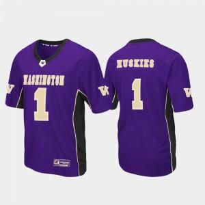Washington Jersey Mens Football Purple #1 Max Power