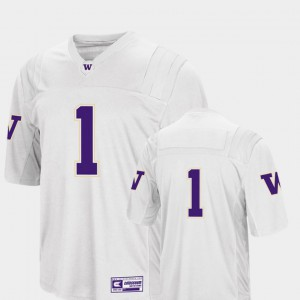 Men's College Football Colosseum 2018 #1 Washington Jersey White