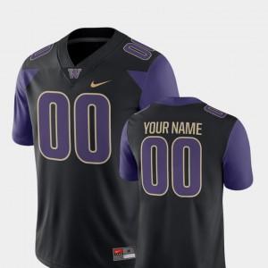 Washington Custom Jerseys College Football #00 2018 Game Black For Men
