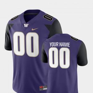#00 Mens Washington Customized Jerseys College Football 2018 Game Purple