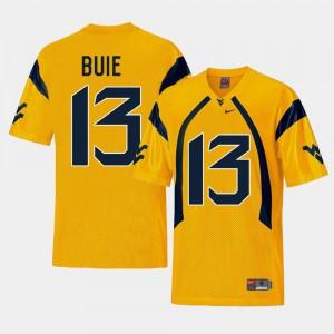 Men College Football Andrew Buie WVU Jersey #13 Gold Replica