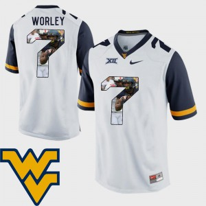 Daryl Worley WVU Jersey Football Mens Pictorial Fashion #7 White