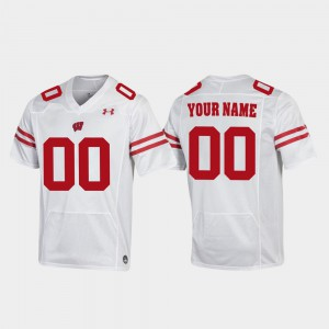 #00 White For Men Wisconsin Customized Jersey Football Replica