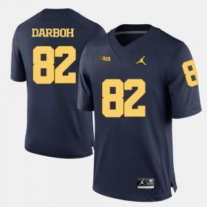 Navy Blue College Football Amara Darboh Michigan Jersey #82 For Men