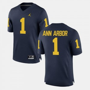 Men's Navy Ann Arbor Michigan Jersey Alumni Football Game #1