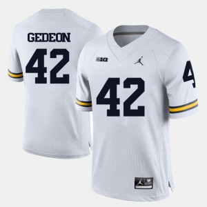 White College Football #42 Ben Gedeon Michigan Jersey Mens