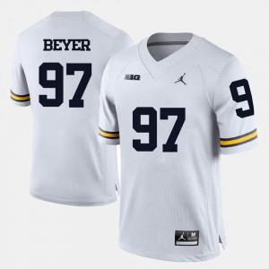 #97 Brennen Beyer Michigan Jersey College Football Mens White