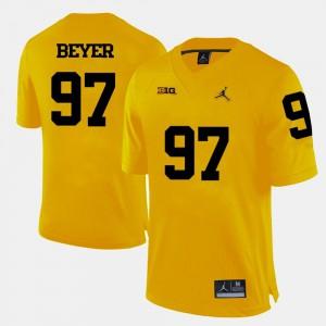 #97 Yellow For Men College Football Brennen Beyer Michigan Jersey