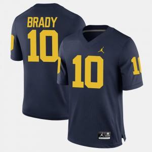Navy Alumni Football Game Mens Tom Brady Michigan Jersey #10