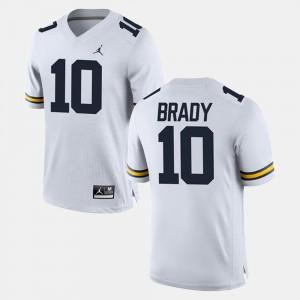 #10 Mens Alumni Football Game Tom Brady Michigan Jersey White