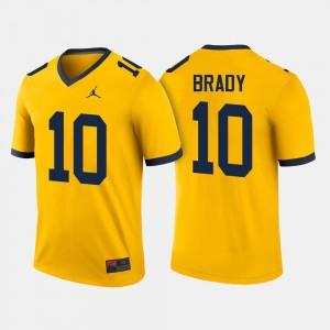 #10 Mens Tom Brady Michigan Jersey Maize College Football