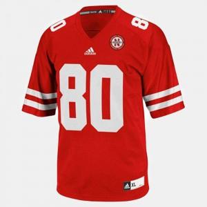 Men Red College Football Kenny Bell Nebraska Jersey #80
