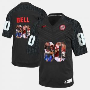 #80 Men Black Player Pictorial Kenny Bell Nebraska Jersey