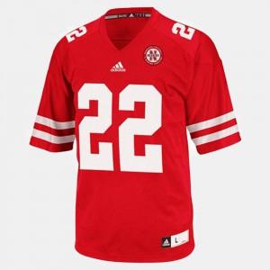 Mens #22 College Football Rex Burkhead Nebraska Jersey Red