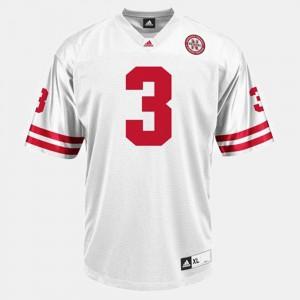 #3 White College Football Taylor Martinez Nebraska Jersey Men's