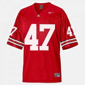 A.J. Hawk OSU Jersey College Football #47 Red For Men