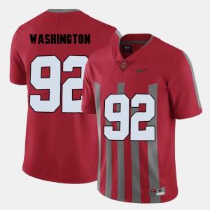 Adolphus Washington OSU Jersey Red Men College Football #92