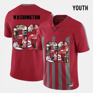 Adolphus Washington OSU Jersey Pictorial Fashion #92 Youth Red