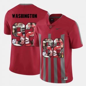 Pictorial Fashion Red For Men's #92 Adolphus Washington OSU Jersey