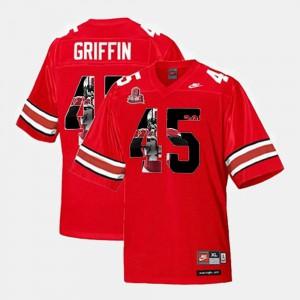 Throwback Scarlet #45 Archie Griffin OSU Jersey Men