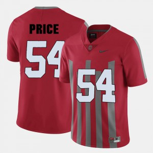Billy Price OSU Jersey College Football #54 Red Mens