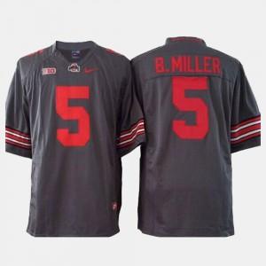 Braxton Miller OSU Jersey College Football Youth #5 Gray