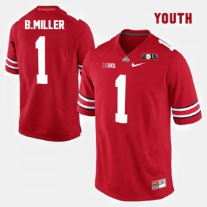 Red Braxton Miller OSU Jersey #1 College Football Youth