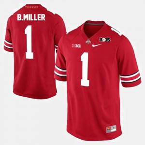 #1 Red Braxton Miller OSU Jersey Men College Football