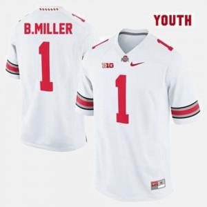 Kids #1 White Braxton Miller OSU Jersey College Football