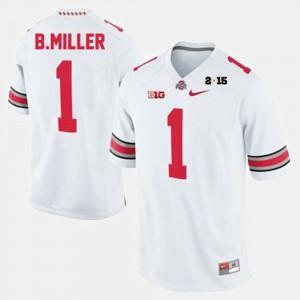 White Braxton Miller OSU Jersey For Men's #1 College Football