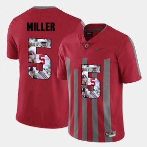 For Men Pictorial Fashion Braxton Miller OSU Jersey #5 Red