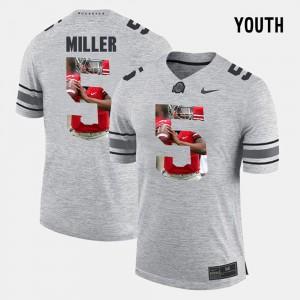 Kids #5 Braxton Miller OSU Jersey Pictorial Gridiron Fashion Gray Pictorital Gridiron Fashion