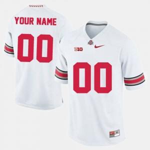#00 Men's College Football White OSU Customized Jerseys
