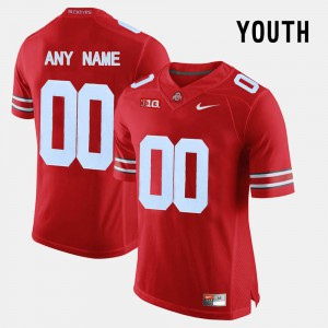 For Kids Red OSU Customized Jersey #00 College Limited Football