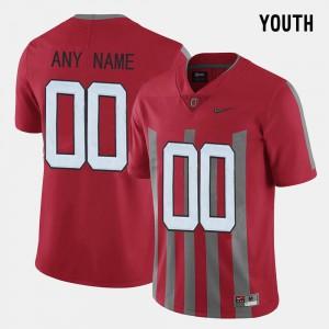 Red Throwback Kids OSU Custom Jersey #00