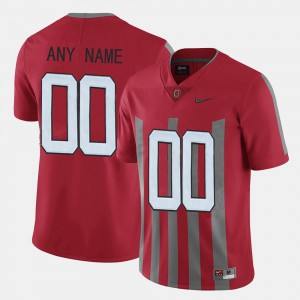 Throwback Red For Men #00 OSU Custom Jersey