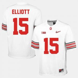 College Football #15 For Men White Ezekiel Elliott OSU Jersey