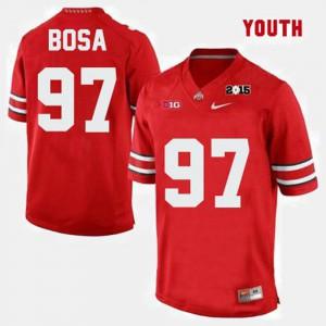 Joey Bosa OSU Jersey #97 College Football Red Youth