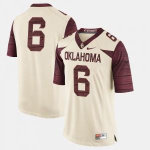 For Men Cream OU Jersey #6 College Football