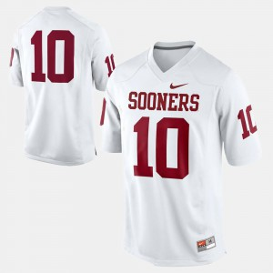 OU Jersey #10 White College Football For Men