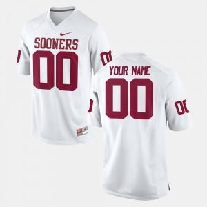 #00 Men College Football OU Customized Jersey White