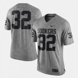 For Men's OU Jersey #32 Gridiron Gray Limited Gridiron Limited Gray