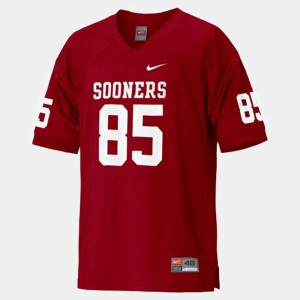 For Men's College Football Ryan Broyles OU Jersey #85 Red