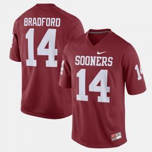 Mens Crimson #14 Sam Bradford OU Jersey Alumni Football Game
