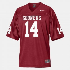 College Football Red #14 Sam Bradford OU Jersey For Kids